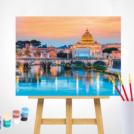 Set pictura pe numere, cu sasiu, Podul Sant'Angelo [1]