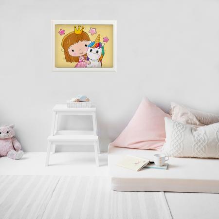 Printesa cu puiul de unicorn 20x30 cm [4]