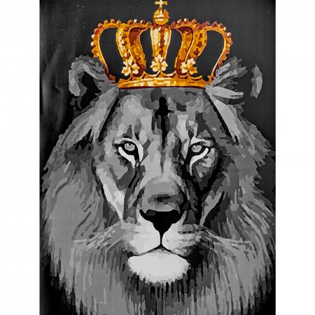 Set pictura pe numere, cu sasiu, Regele leu, 40x50 cm0