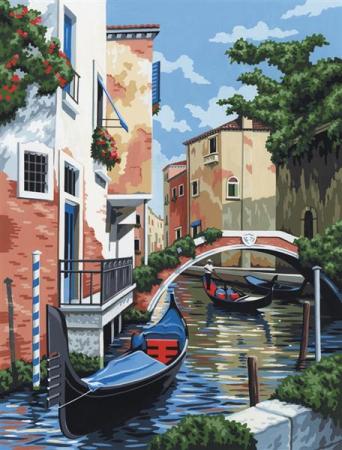 Set pictura pe numere, cu sasiu, Scena din Venetia [0]