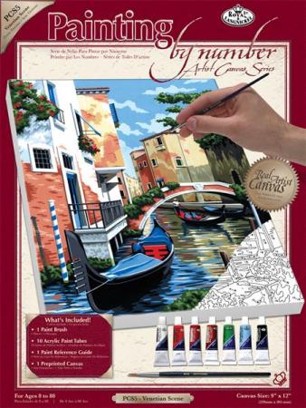 Set pictura pe numere, cu sasiu, Scena din Venetia [2]