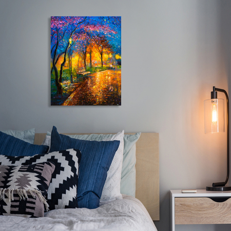 Set pictura pe numere, cu sasiu, Seara de toamna, 40x50 cm4