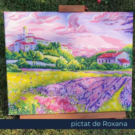Set pictura pe numere, cu sasiu, Seara in Provence [1]