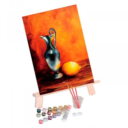 Set pictura pe numere, cu sasiu, Ulcior, 30x40 cm0