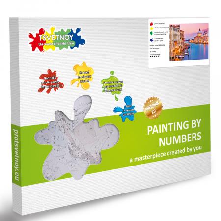 Set pictura pe numere, cu sasiu, Venetia [5]