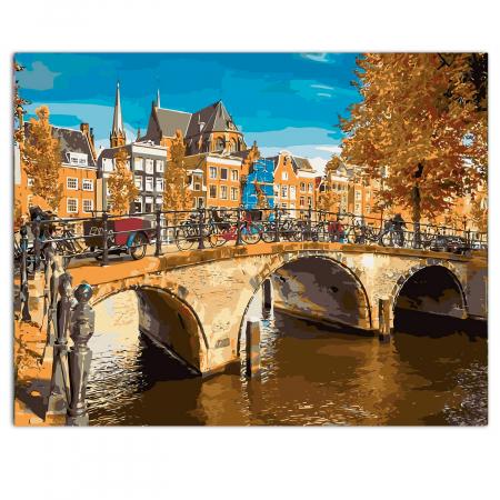 Set pictura pe numere, cu sasiu, Amsterdam, 40x50 cm0