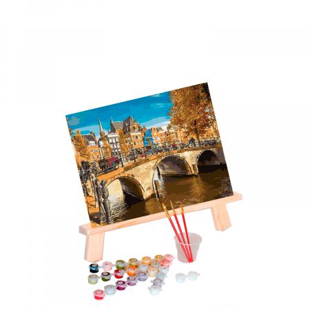 Set pictura pe numere, cu sasiu, Amsterdam, 40x50 cm1