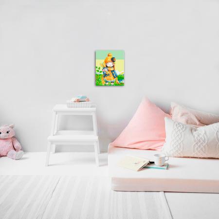 Set pictura pe numere, cu sasiu, Baby Doll, 30x40 cm2