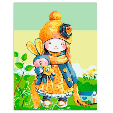 Set pictura pe numere, cu sasiu, Baby Doll, 30x40 cm [0]