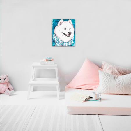 Set pictura pe numere, cu sasiu, White Friend, 30x40 cm2