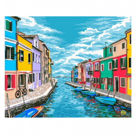 Set pictura pe numere, cu sasiu, Venetia, 40x50 cm0