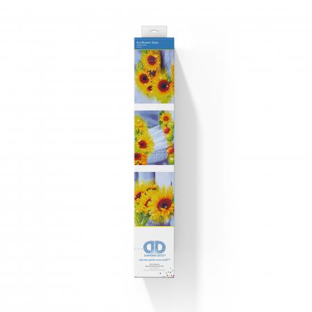 Set 3 goblenuri cu diamante, Floarea soarelui, 42x142 cm [1]