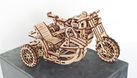 Puzzle 3D Mecanic, Motocicleta Scrambler UGR-10, 380 piese [18]
