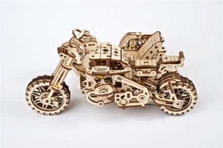 Puzzle 3D Mecanic, Motocicleta Scrambler UGR-10, 380 piese [9]