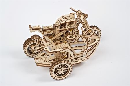 Puzzle 3D Mecanic, Motocicleta Scrambler UGR-10, 380 piese [12]
