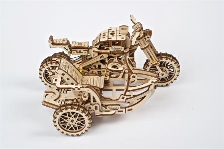 Puzzle 3D Mecanic, Motocicleta Scrambler UGR-10, 380 piese [3]