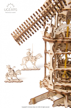 Puzzle 3D Mecanic, Moara de vant, 585 piese [4]