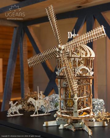 Puzzle 3D Mecanic, Moara de vant, 585 piese [9]