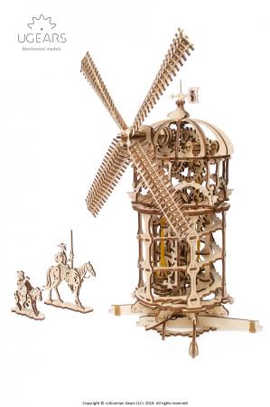 Puzzle 3D Mecanic, Moara de vant, 585 piese [2]
