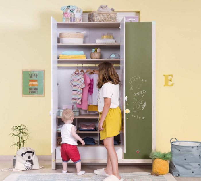 Dulap cu 3 usi cu sertar, pentru camera copii, Colectia Montessori [3]