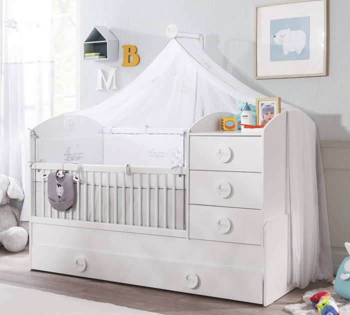 Baldachin pentru pat copii, colectia Cotton Baby [1]