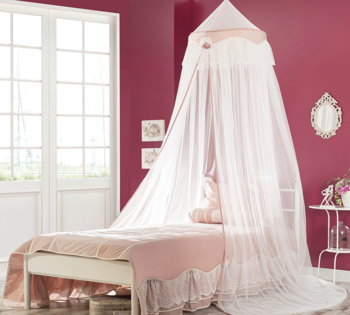 Baldachin pentru pat copii, colectia Rosa [1]
