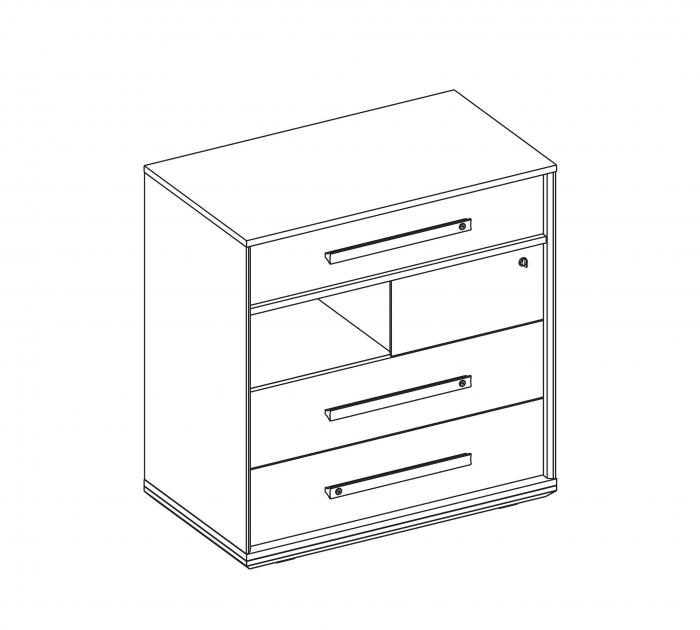 Comoda din pal din Colectia Duo 80x46x83 cm [2]