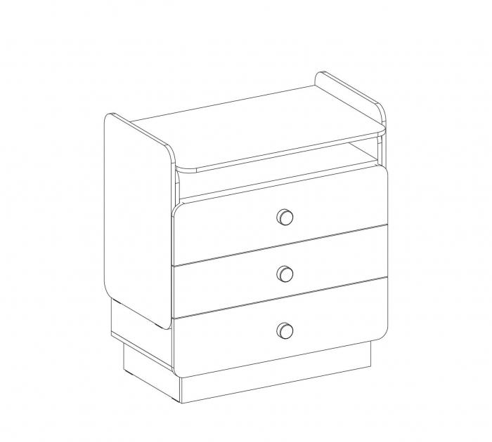 Comoda cu 3 sertare cu masuta incorporat, pentru camera copii Colectia Natura Baby [5]