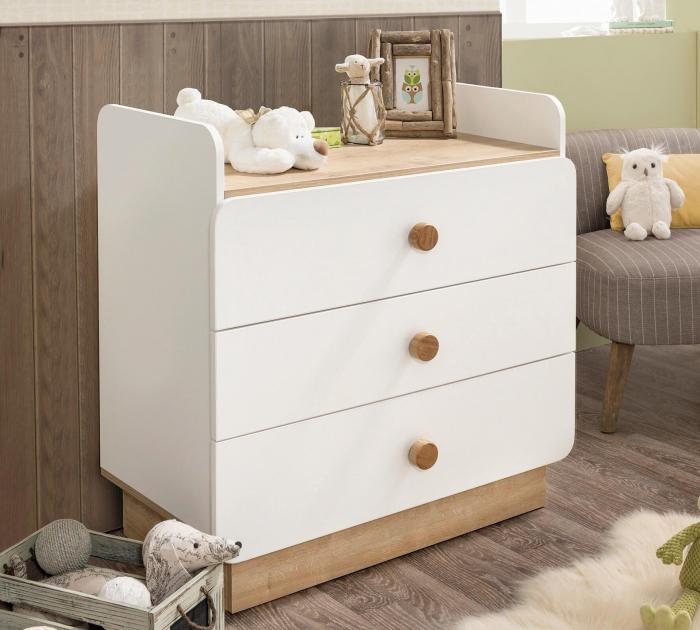 Comoda cu 3 sertare cu masuta incorporat, pentru camera copii Colectia Natura Baby [2]
