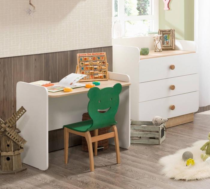 Comoda cu 3 sertare cu masuta incorporat, pentru camera copii Colectia Natura Baby [1]