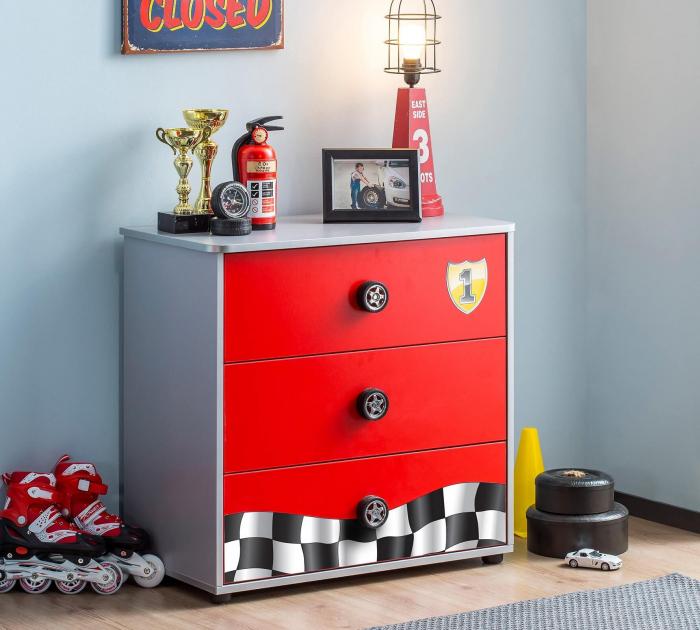 Comoda cu 3 sertare, pentru camera baieti, colectia Race Cup [1]