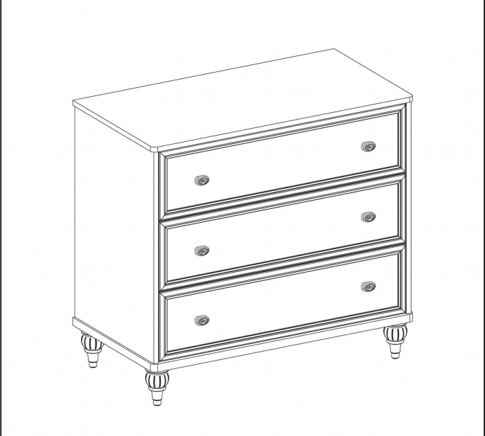 Comoda cu 3 sertare, pentru camera copii si adolescenti Colectia Romantica [5]