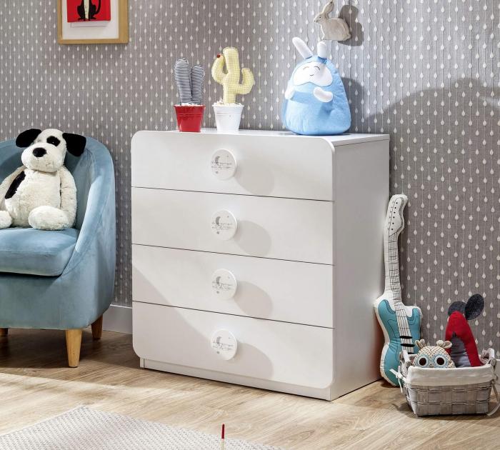 Comoda cu 4 sertare, pentru camera copii, colectia Baby Cotton [1]