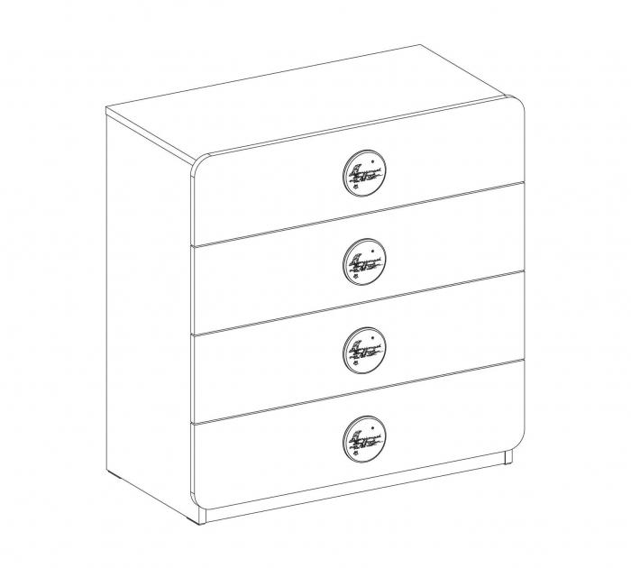 Comoda cu 4 sertare, pentru camera copii, colectia Baby Cotton [4]
