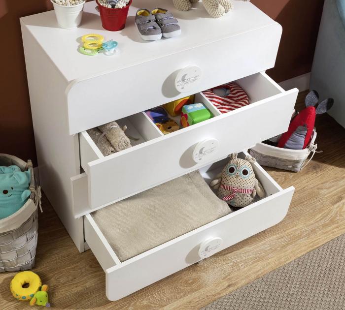 Comoda cu 4 sertare, pentru camera copii, colectia Baby Cotton [2]