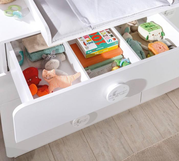 Comoda cu 4 sertare si usa, pentru camera copii, colectia Baby Cotton [3]