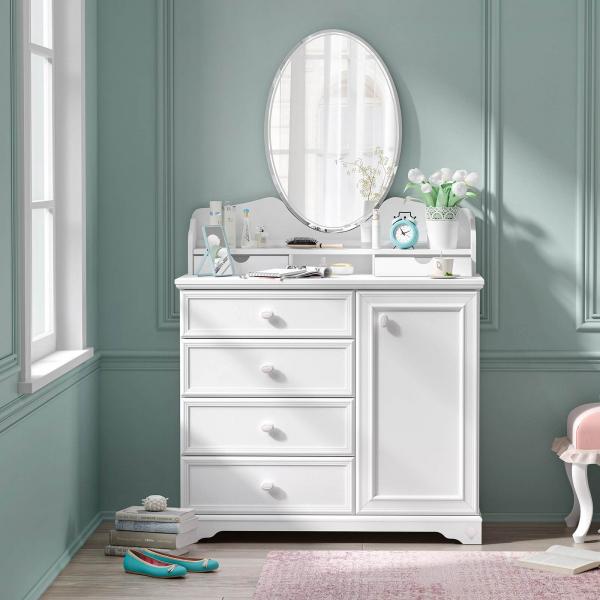 Oglinda pentru comoda Colectia Rustic White [2]