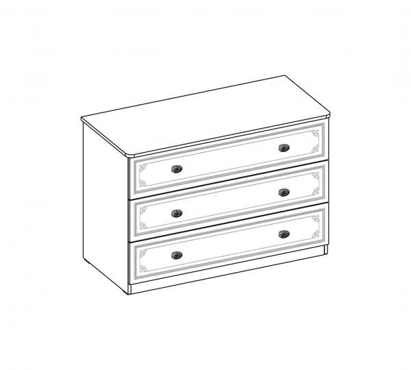 Comoda pentru camera fetelor, Colectia Selena Grey 107x53x75 cm [4]