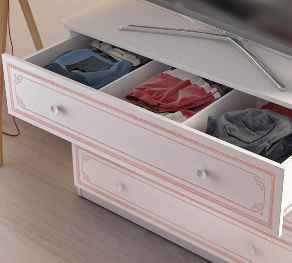Comoda pentru camera fetelor, Colectia Selena Pink 107x53x75 cm [1]