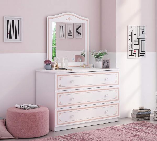 Comoda pentru camera fetelor, Colectia Selena Pink 107x53x75 cm [3]