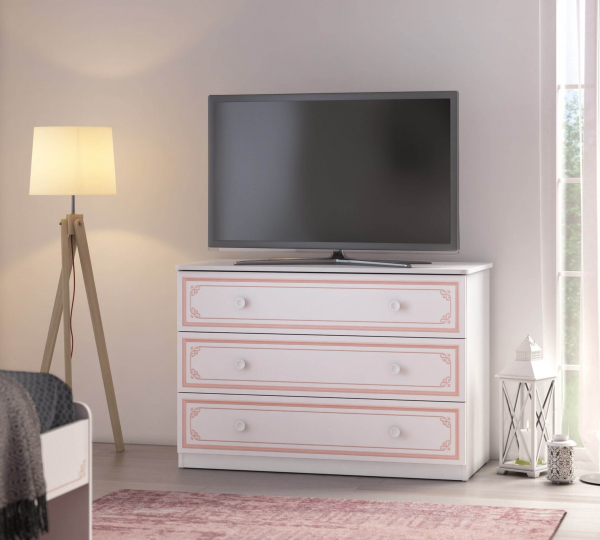 Comoda pentru camera fetelor, Colectia Selena Pink 107x53x75 cm [2]
