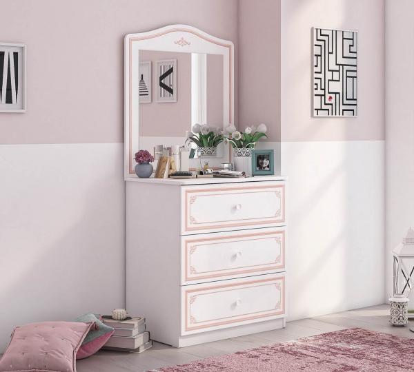 Comoda pentru camera fetelor, Colectia Selena Pink 73x49x80 cm [1]