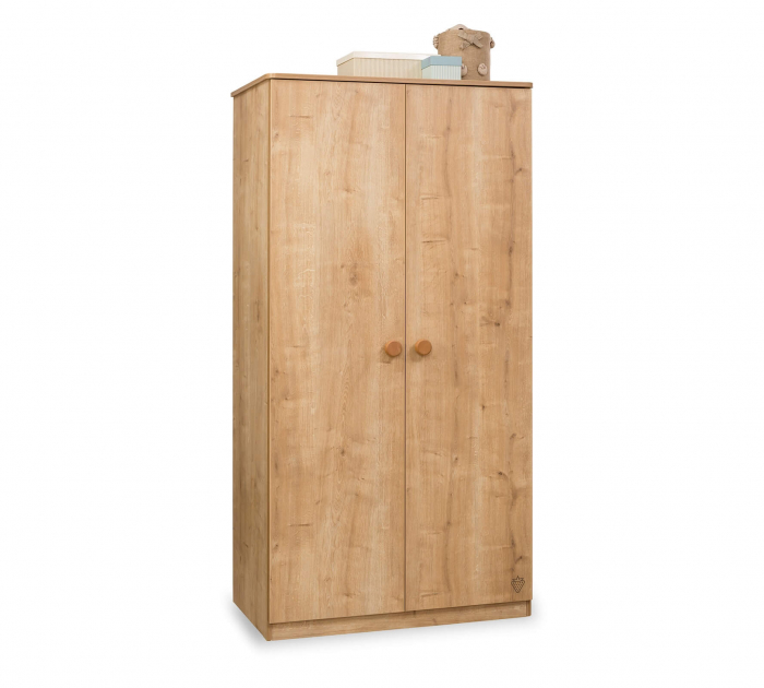 Dulap cu 2 usi pentru camera copii Colectia Mocha 93x56x181 cm [0]