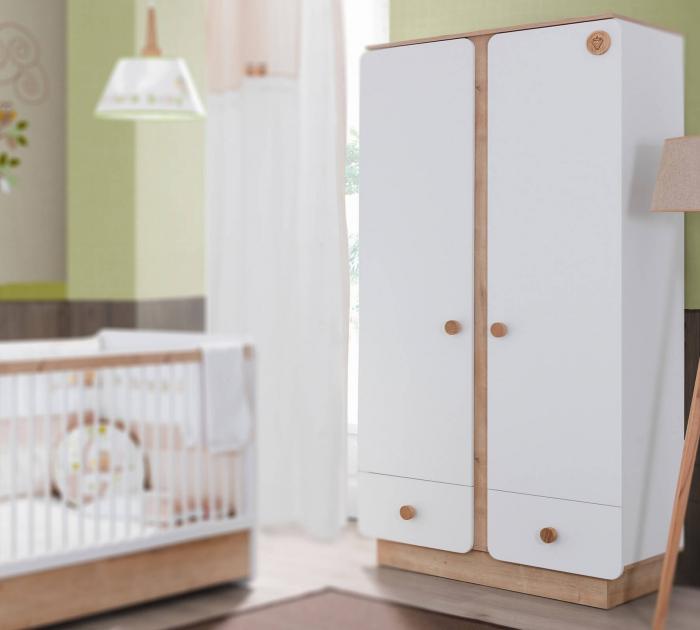 Dulap cu 2 usi pentru camera copii Colectia Natura Baby [1]