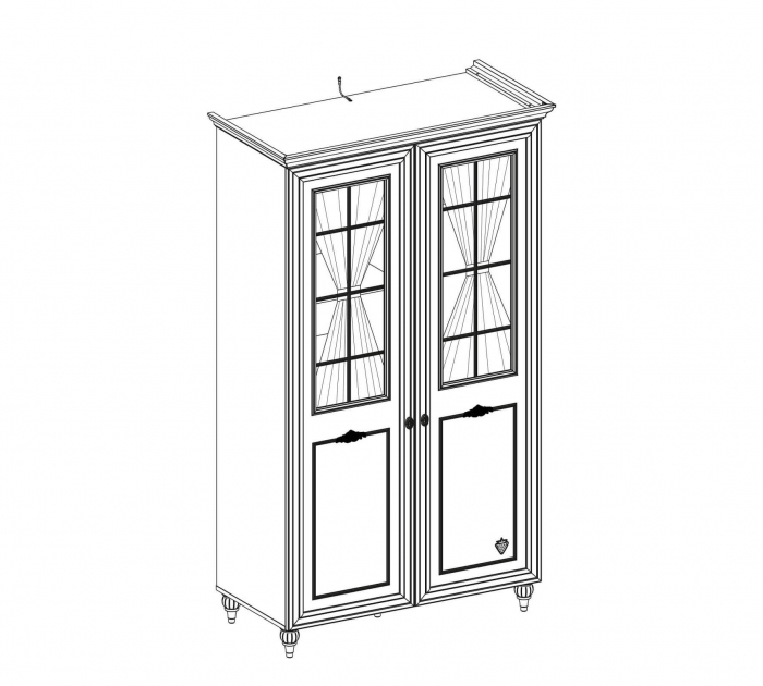 Dulap cu 2 usi si geamuri,  pentru camera copii, Colectia Romantica [3]