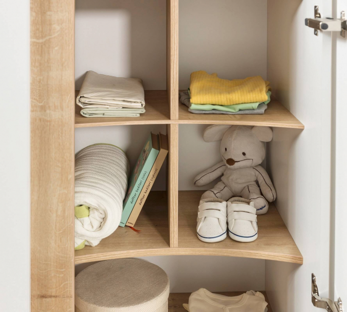Dulap cu 3 usi pentru camera copii Colectia Natura Baby [4]