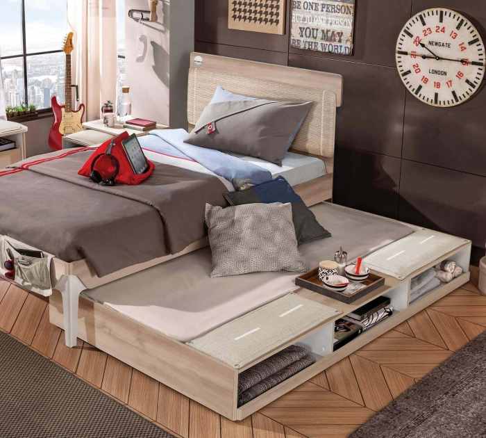 Sertar pat multifunctional pentru camera copiilor Colectia Duo  90x190 cm [1]