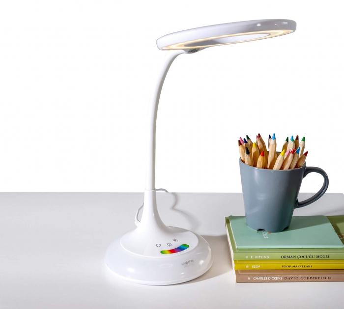 Lampa de birou pentru copii Rainbow White [0]