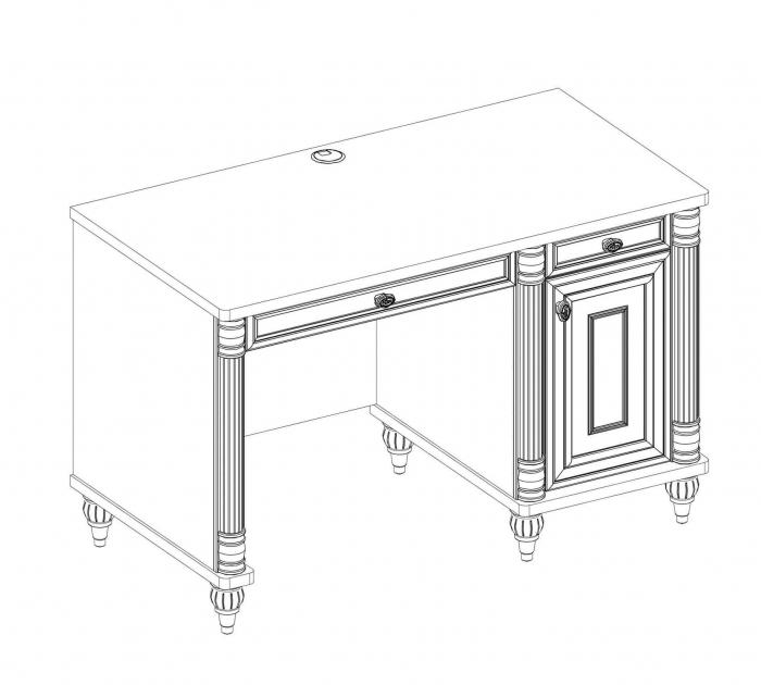 Masa de birou, pentru copii si tineret Colectia Romantic, 117x62x75 cm [2]
