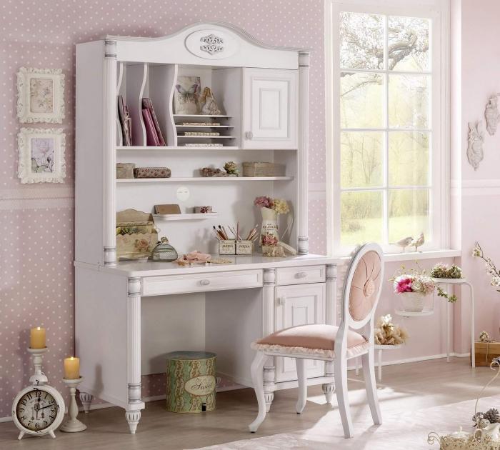 Masa de birou, pentru copii si tineret Colectia Romantic, 117x62x75 cm [4]